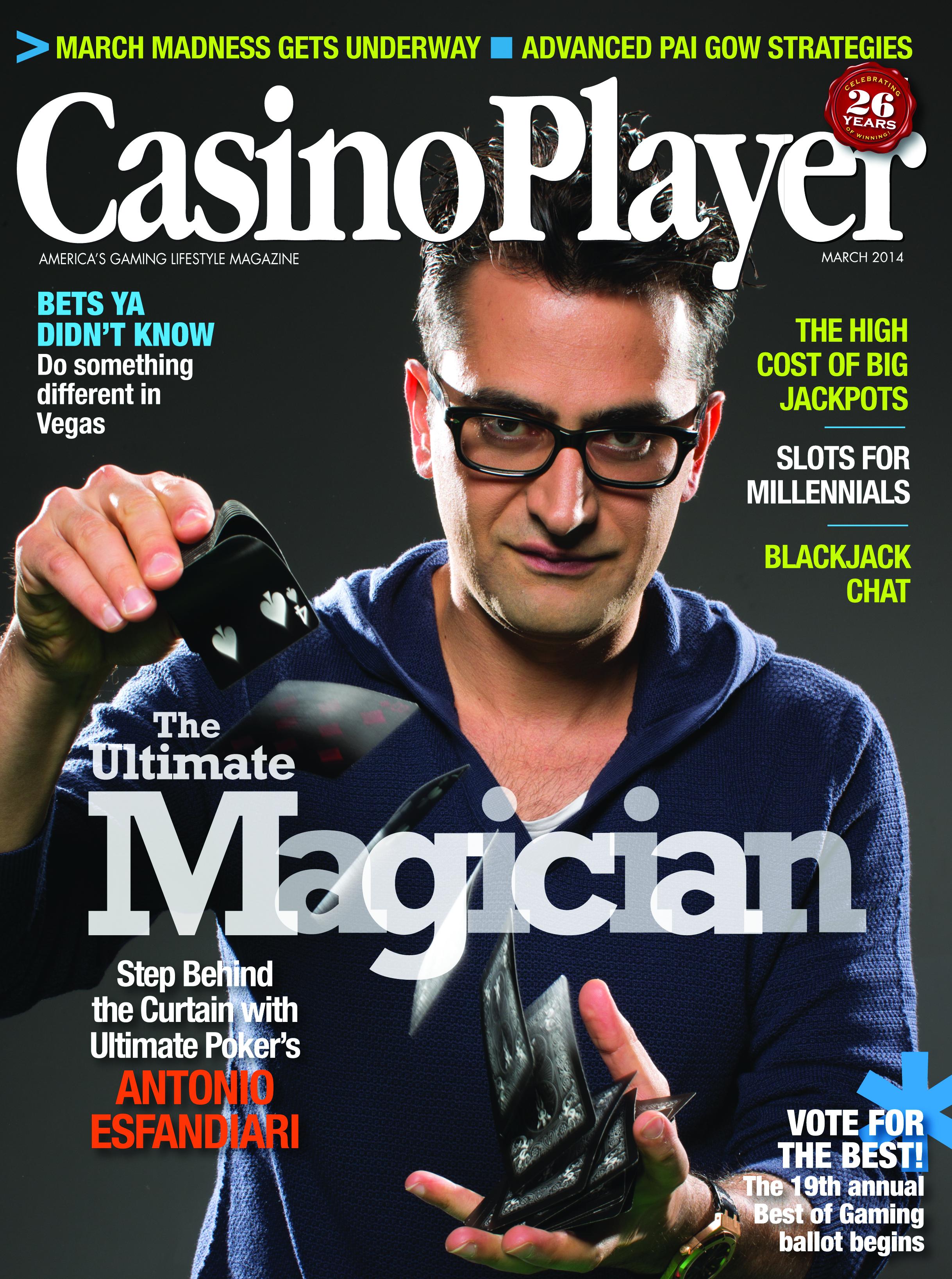 Casino magazine player casino crap game layout